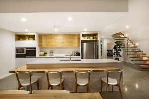 Mid-century modern kitchen on the Gold Coast