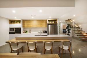 Mid-century modern kitchen on the Gold Coast