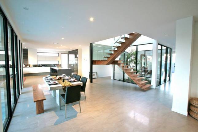 Contemporary, open-plan living
